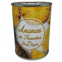 ananas tranches au sirop léger 340gr