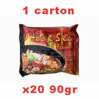 carton mama soupe hot & spicy 20x90g