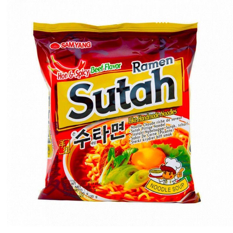 nouille ramen coreenne boeuf epicés sam yang noodle sutah 120 g