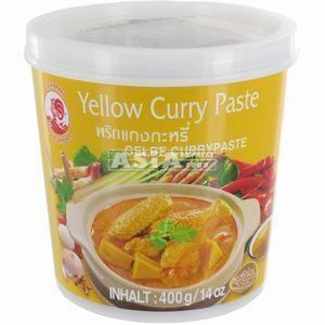pate de curry jaune 400gr cock