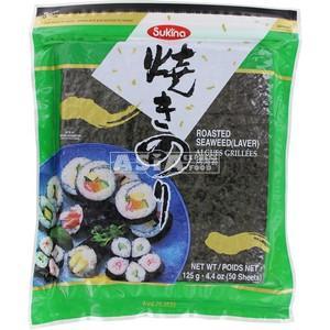 50 feuilles de nori pour sushi 125gr