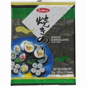 10xfeuilles de yaki nori pour sushi 25gr