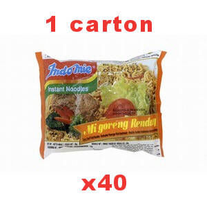 carton soupes indomie crevette 40x70gr