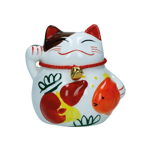 tirelire chat maneki-neko ceramique a 10cm