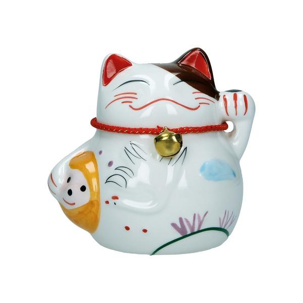 tirelire chat maneki-neko ceramique b 10cm - oiseau