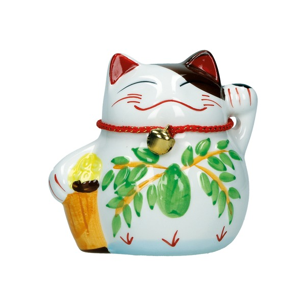 tirelire chat maneki-neko ceramique c 10cm