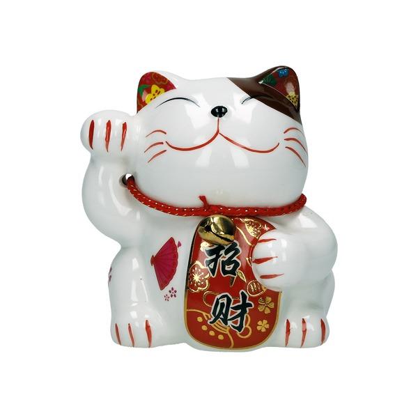 tirelire plutus chat en céramique a 9cm - eventail