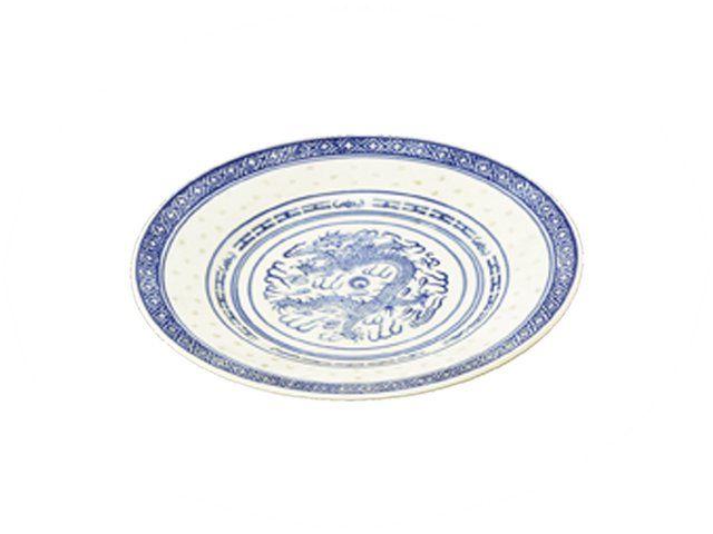 assiette grain de riz bleu 20cm