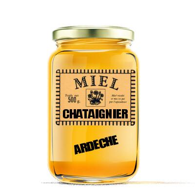 miel de chataignier 500gr ardeche