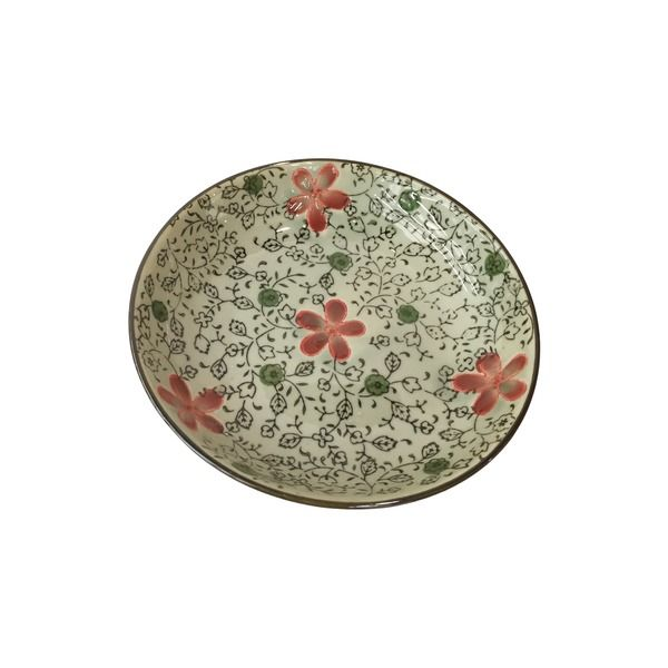 assiette 18 cm motif fleurs multicolores