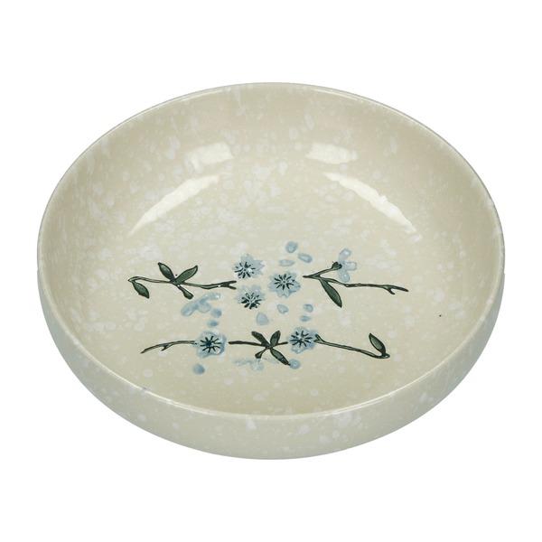 assiette creuse style japonais  ceramiqie flocons de neige 17.6cm