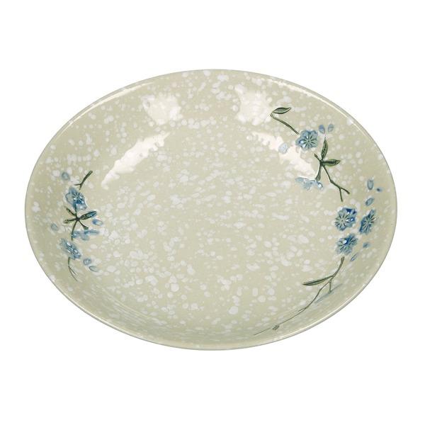 assiette creuse style japonais ceramique flocons de neige 18.8cm