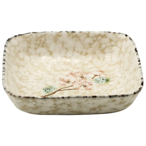 plat en céramique neige 12,5 cm