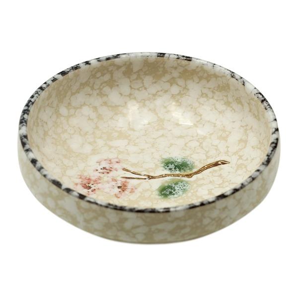 plat céramique style japonais flocon de neige 17.5cm