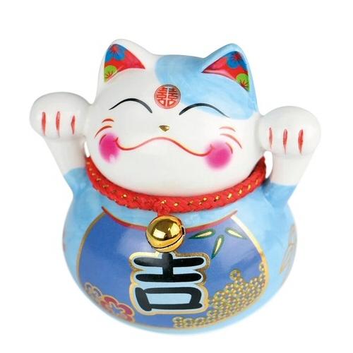 tirelire chat plutus ceramique h