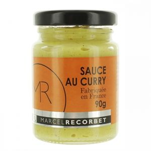 sauce curry 90gr marcel recourbet
