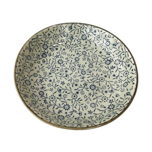 assiette grain de riz bleu 25cm