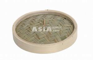 couvercle pour panier vapeur en bambou 8''