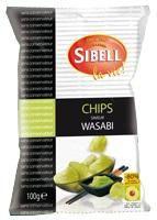 chips au wasabi sibell 100g