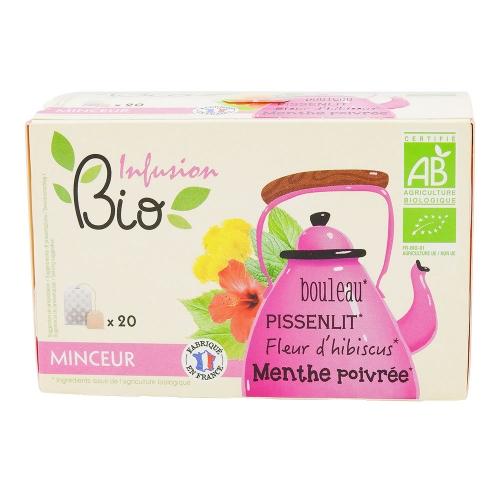 infusion minceur bio 20 sachets bouleau pissenlit menthe hibiscus