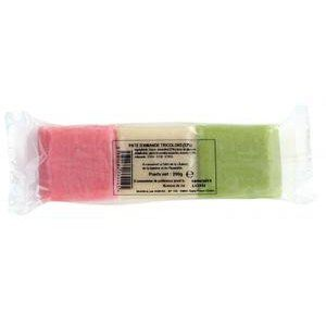 pate d'amande tricolore 250 gr