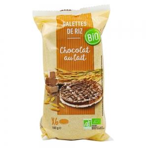 galettes de riz chocolat au lait bio 100gr