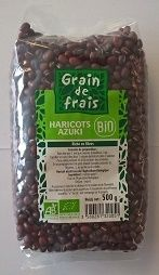 haricots azuki bio grains de frais 500g