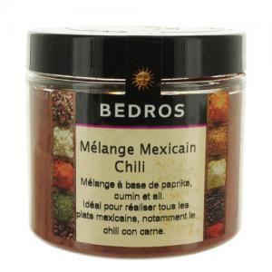 melange d'epices cuisine mexicaine - chili 95 gr bédros