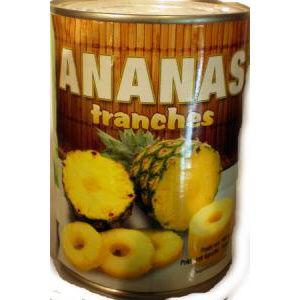ananas en tranches 565gr aef