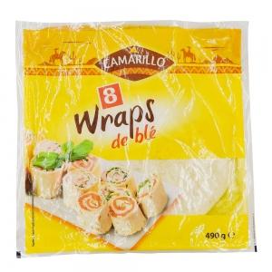 8x tortillas wrap 25cm paquet 490g camarillo
