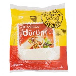 18 tortillas de blé durum 30cm paquet 1.8kg