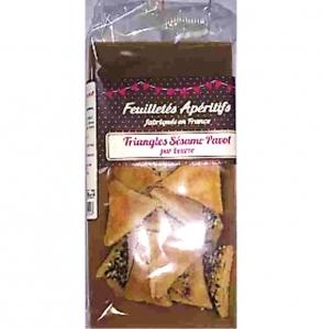 feuilletés apéritifs sésame & pavot paquet 60g