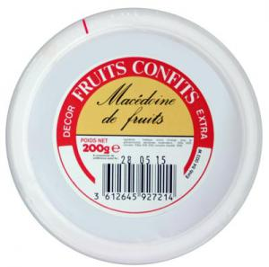 fruits confits macédoine pot 200g