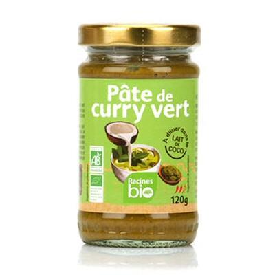 pate de curry vert racines bio 120g
