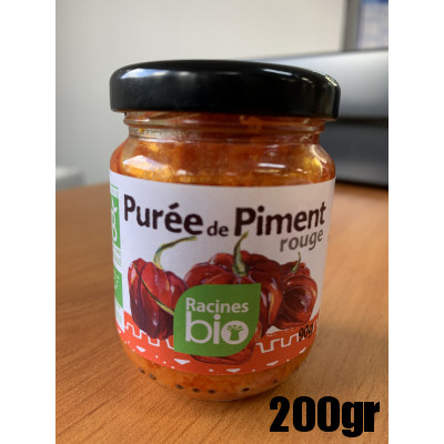 puree de piment rouge bio 200g