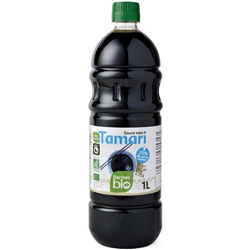 sauce soja tamari bio allegee en sel racines 1l