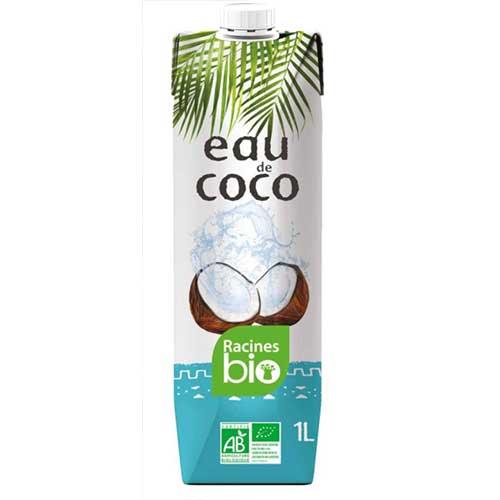 eau de coco bio racines 1l