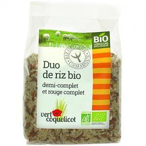 riz duo bio 1/2 complet-rouge camargue 500gr