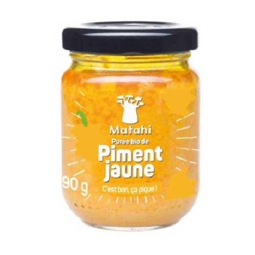puree de piment jaune bio matahi 90