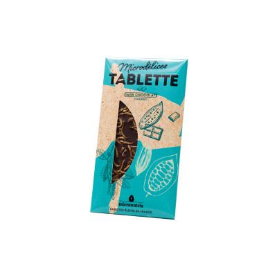 tablette de  chocolat noir ténébrions - insectes comestibles