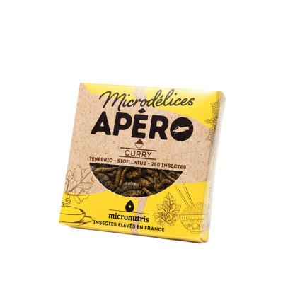 mix de ténébrions & grillons curry - apero 100 - insectes comestibles