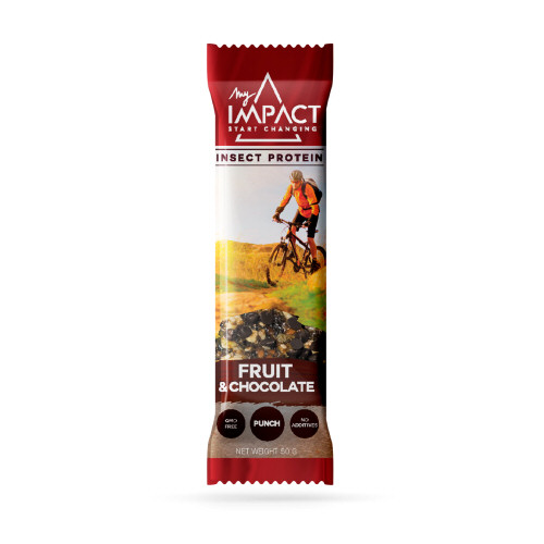 barre energy fruit & chocoloat tenebrions - insectes comestibles