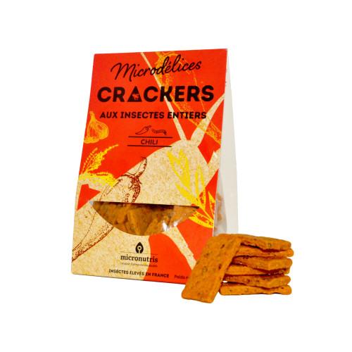 crackers piment espelette ténébrions - insectes comestibles