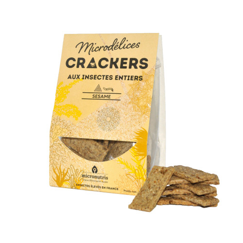 crackers sesame ténébrion - insectes comestibles
