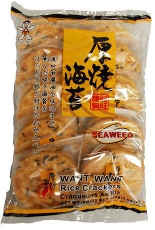 biscuit de riz aux algues want want 160 g