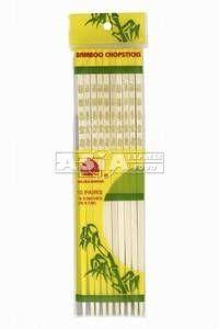 10 paires baguettes en bambou