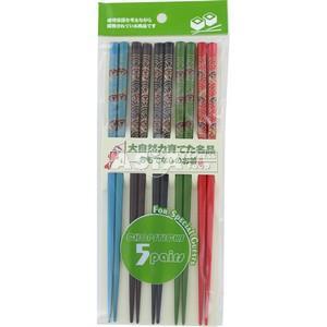 5 paires baguettes japonaises multicolores