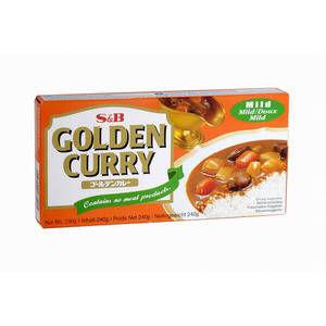 golden curry japonais moyen doux s&b