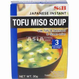 3 x soupes miso tofu