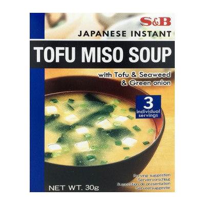 3x soupes miso wakame au tofu